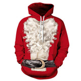 Allover Print Christmas Hoodie - Santa's White Beard | Christmas Apparel | All For Xmas