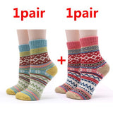 2 Pairs Casual Colorful Winter Socks | Christmas Apparel | All For Xmas
