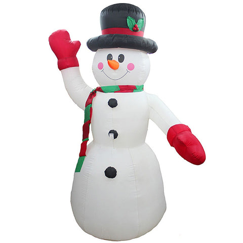 2.4M-8FT Inflatable Giant Snowman LED Lighted | Outdoor Christmas Decor | All For Xmas - All For Xmas