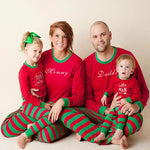 Christmas Family Matching Pajamas - Red Green Stripes | Christmas Apparel | All For Xmas