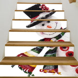 Christmas Snowman Pattern Decorative Stair Decals | Home Decor | All For Xmas