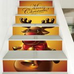 Christmas ReinDeer Pattern Decorative Stair Decals | Home Decor | All For Xmas