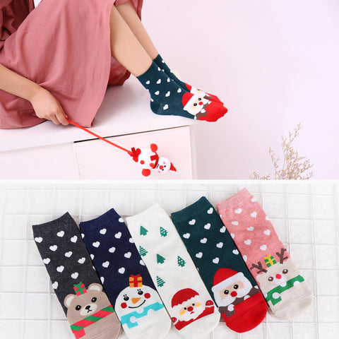 Women Colorful Cotton Christmas Winter Socks | Christmas Apparel | All For Xmas