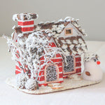 Christmas Village Snowy White House | Christmas Decor | All For Xmas