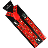 Red Dancing Reindeer Suspenders For Christmas | Christmas Apparel | All For Christmas