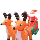 2M-7FT Inflatable Giant Santa Sleigh With Reindeers LED Lighted | Outdoor Decor | All For Xmas