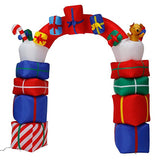 2.4M-8FT Inflatable Giant Christmas Arch Gate With Presents LED Lighted | Outdoor Decor | All For Xmas