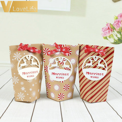 24pcs Christmas Kraft Paper Gift Bags | Gift Decor | All For Xmas