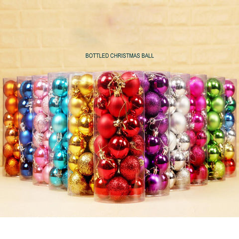 Christmas Tree Decorating Bauble Balls 24pcs | Tree Decor | All For Xmas