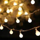 Led Cherry Balls Fairy String Lights Battery Operated | Christmas Lighting | All For Xmas