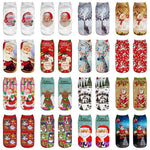 3 Pairs Colorful Cotton Blend Ankle Christmas Socks - One Size | Christmas Apparel | All For Xmas