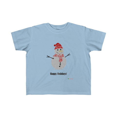 Toddler T-Shirt | Snowman - Happy Holidays | Many Colors | Christmas Apparel | All For Xmas - All For Xmas