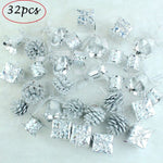 32pcs Silver Christmas Tree | Hanging Pendant | All For Xmas