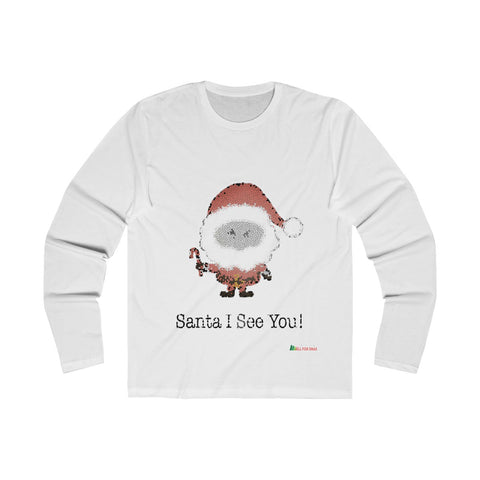 Long Sleeve Crew Shirt | Santa I See You - Men Unisex | Christmas Apparel | All For Xmas