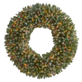 5' Giant Flocked Artificial Christmas Wreath