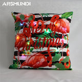 LED Light Merry Christmas Pillow Case Cushion Cover | Home Decor | All For Xmas