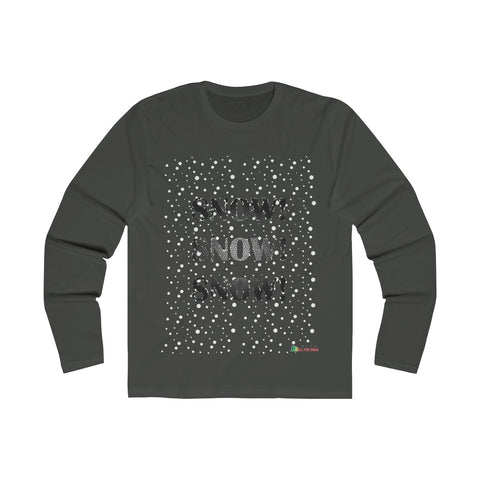 Long Sleeve Crew Shirt | Snow Snow Snow - Men Unisex | Multiple Colors | Christmas Apparel | All For Xmas