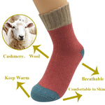 5 Pairs Cashmere Wool Blend Casual Traditional Short Winter Socks | Christmas Apparel | All For Xmas