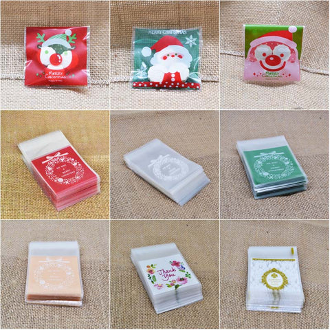 50Pcs Christmas Cookie Candy Package Wrap Bag | All For Xmas