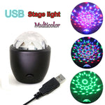 Sound Activated Mini stage Disco Ball Multicolor Light USB powered