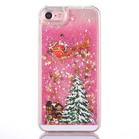 Christmas Glitter Hardcover Case For iPhone X 7 8 Plus | Christmas Accessories | All For Xmas - All For Xmas