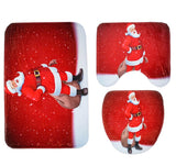 Christmas Pattern Toilet Seat Cover Set | Bathroom Decor | All For Xmas