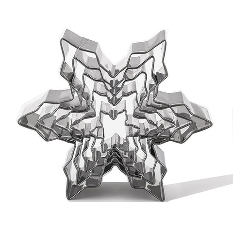 5pcs Snowflake Cookie Moulds Cutter Stainless Steel | Christmas Baking | All For Xmas