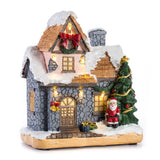 "6"" Christmas Scene Village House With LED Light 