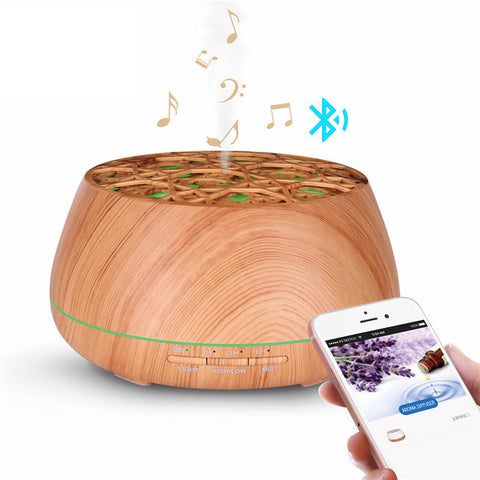 Wood Essential Oil Diffuser Bluetooth Speaker | Christmas Presents | All For Xmas - All For Xmas
