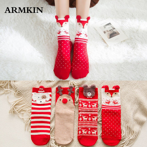 Casual Winter Christmas Cotton Socks For Women | All For Xmas