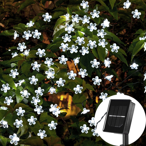 Blue Flower Blossom Solar String Lights Waterproof | Christmas Lighting | All For Xmas