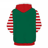 Allover Print Christmas Hoodie - Mrs Santa | Christmas Apparel | All For Xmas