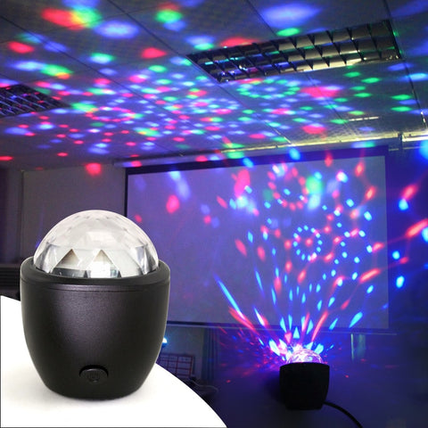 Sound Activated Mini stage Disco Ball Multicolor Light USB powered - All For Xmas