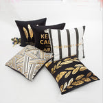 Gold Christmas Holiday Pillow Covers | Decorative Cushion | Home Decor | All For Xmas