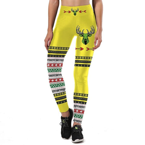 Yellow Christmas Leggings | Christmas Apparel | All For Xmas