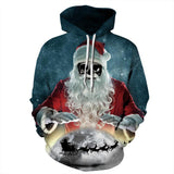 Allover Print Christmas Hoodie - Sunglasses Santa | Christmas Apparel | All For Xmas