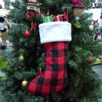 Black Red Plaid Christmas Traditional Stocking | Home Decor | All For Xmas - All For Xmas