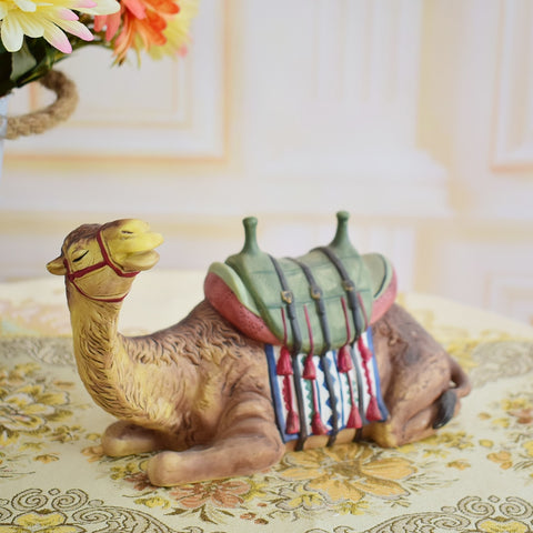 Ceramic Sitting Camel Figure | Nativity Scene Decor | All For Xmas