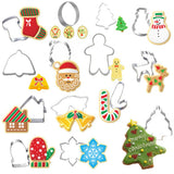 12PCS Christmas Cookie Cutter Moulds Set Stainless Steel | All For Xmas