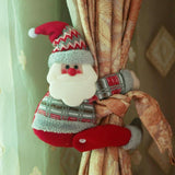 Christmas Curtain Buckle Santa Elk | Home Decor | All For Xmas - All For Xmas