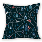 18 Inch Christmas Microfiber Pillow Case Cushion Cover | Home Decor | All For Xmas