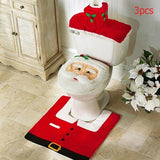 3pcs set Christmas Toilet Seat Cover | Xmas Decorations For Bathroom | All For Xmas