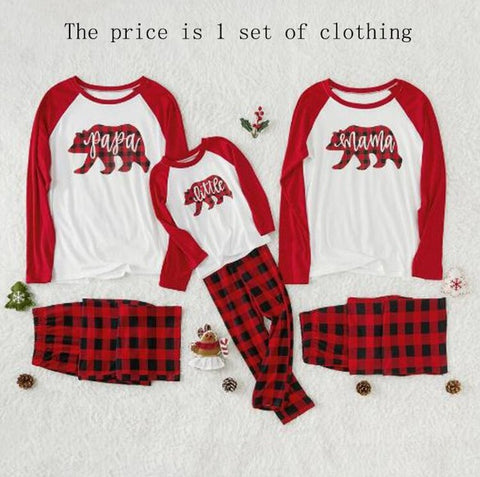 Christmas Family Matching Pajamas - Bear Plaid | Christmas Apparel | All For Xmas
