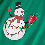 Christmas Family Matching Pajamas - Green Snowman | Christmas Apparel | All For Xmas