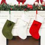 Large Knitted Christmas Traditional Wool Stocking - 3 Colors | Home Decor | All For Xmas - All For Xmas