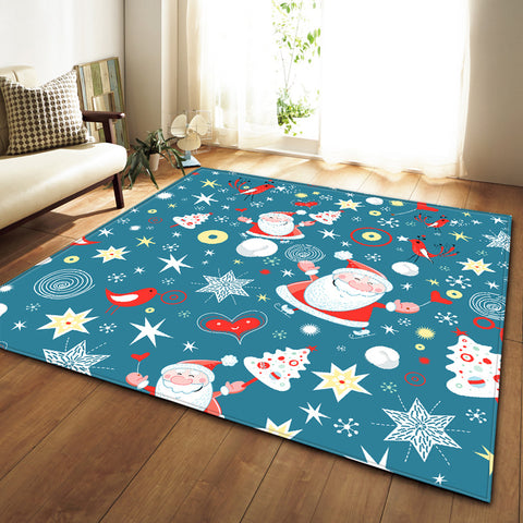 Christmas Decorative Area Rug Carpet - Different Sizes | Home Decor | All For Xmas