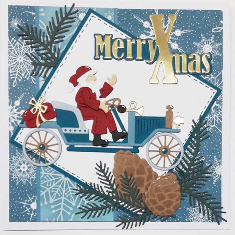 Christmas Santa Claus Metal Cutting Dies | DIY Scrapbooking | All For Xmas