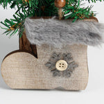 Rustic Wood and Fleece Ornaments | Christmas Tree Decoration | All For Xmas