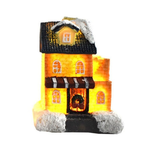 Colorful LED Flashing Christmas Village House - Battery Operated | Christmas Decor | All For Xmas