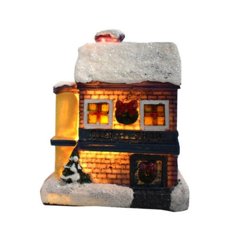 Colorful LED Flashing Christmas Scene Village House - Battery Operated | Christmas Decor | All For Xmas